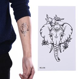 $enCountryForm.capitalKeyWord NZ - New Fashion Elephant Flash Temporary Tattoo Stickers Temporary Body Waterproof Gold Tatto Pattern Men Women Fake Tattoo