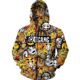 d48d8504b New Fashion Cartoon Glo Gang Hoodies 3D Print Mens Womans Hoodie Hoody Man  Hip Hop Casual Coat Sweatshirts with Zipper Plus Size 5XL DH03