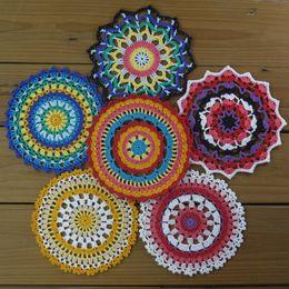 $enCountryForm.capitalKeyWord NZ - 12PCS   Per design 2PCS - Crochet Mandala Table Mats Doily Crochet Mat, Home Decor Table Decoration in 100% cotton