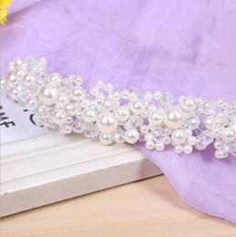 $enCountryForm.capitalKeyWord Canada - The bride bride headdress jewelry handmade pearl wedding Korean hair hair band