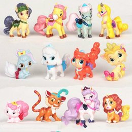 $enCountryForm.capitalKeyWord NZ - 12pcs 4-6cm My Cute Little Action Figures Pvc Doll Palace Pets Dogs and Cats Horse Toy