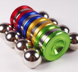 $enCountryForm.capitalKeyWord Canada - Magnetic Fidget Orbiter Spinner with 2 Steel Balls Neodymium Magnets 4 Colors SUS Hand Spinner EDC Novelty Fidget Spinner Decompression Toys