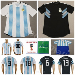 Argentina 2018 Soccer Jerseys Word Cup Men 3 TAGLIAFICO 4 ANSALDI Football  Shirt Kits 6 FAZIO 16 ROJO 13 MEZA 18 SALVIO Custom Name Number 3ccbdd522