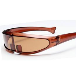 bf3b2ef8da03a Cycling Eyewear Unisex Fashion Dolphin Sunglasses Fish Shape Space Mirror  Integrated Lens Bicycle Glasses
