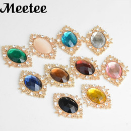20Pcs Flatback Rhinestone Button For Clothes Shoes Bag Decoration Metal  Buckle DIY Wedding Invitation Card Sewing Accessories 7c3520bb58d0