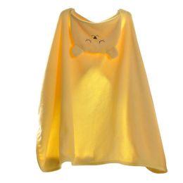 Boy Kid Beds UK - Kids Hooded Blanket Shawl Warm Flannel Catoon Stroller Car Sofa Bedding Blanket Robe Cape Cloak Boy Girl Yellow
