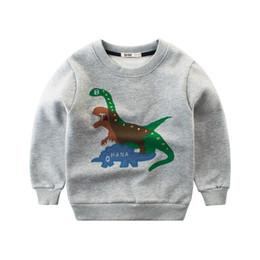 Boys Dinosaur Jacket Australia - 2019 spring autumn Fashion Children Sweatshirts Children's sport hoodies Baby Boys cartoon dinosaur fleece coat jacket kids clothes
