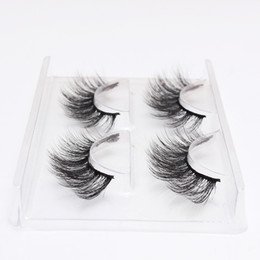 Chinese  2 Pairs Set Eyelashes 3D False Eyelash Eye Makeup Natural Long Thick Eyelash Extension Hot Fashion 12 Styles Handmade Eye Lashes manufacturers