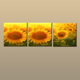 $enCountryForm.capitalKeyWord NZ - Framed Unframed Large Modern Picture Abstract Wall Art Canvas Prints Sunflower Flowers Painting Home Decor 3 pieces Set Bedroom Decor abc197