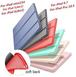 Venta al por mayor de Funda Inteligente de silicona Nuevo iPad contraportada magnética para iPad Mini Air 2 Pro 10.5