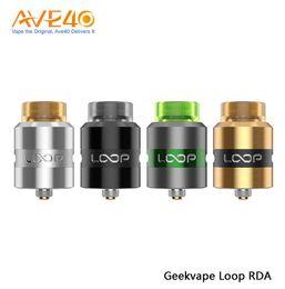 box mod rda kit 2019 - Original Geekvape Loop RDA 24mm Surround Airflow RDA Atomizer Tank Support E Cigarettes Box Mod Vape fit GBOX Athena Squ