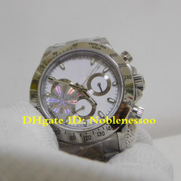 Discount jh watches - Classic 10 Style Swiss CAL.4130 Movement Luxury Chronograph Watch Men's 40mm white Dial 116520 116519 116500 JH Fac