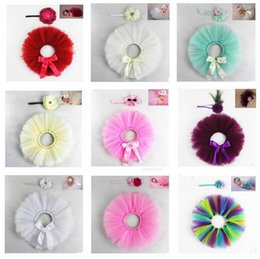 China Infants Photo Photography Props Costumes Clothes for 0-1T Newborns Baby Lace TuTu Dress Flower Headband Skirt 22 Styles Gifts Free Shipping supplier free flower girl dresses suppliers