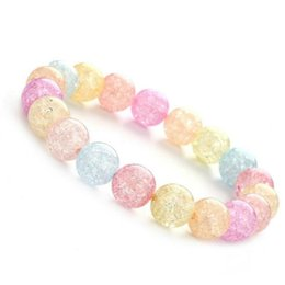 Wholesale Lovely fresh colorful popcorn glass crystal bracelet Europe and America fashion jewelry