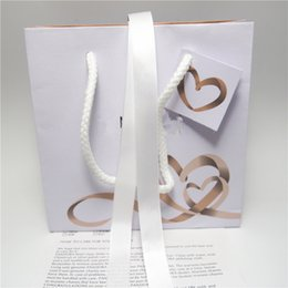 pandora earrings wholesale NZ - Heart Ribbon Paper Jewelry Bag Cardboard Box For Pandora Bracelet Earrings Ring Necklace Jewellery Packaging And Display
