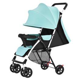Infant Carriages Australia - Travel Baby Trolley Infant Portable Folding Small Baby Four Wheels Stroller Umbrella Car Lightweight Newborn Carriage Pram