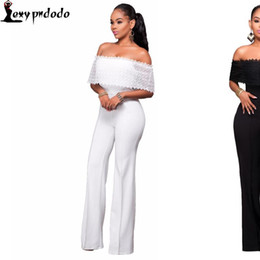 $enCountryForm.capitalKeyWord Australia - Fashion- Fashion White Bodysuit Women Sexy Rompers Womens Jumpsuit Bodycon Off Shoulder Playsuit Woman Jumpsuit With Long Pants Vestidos