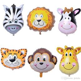 $enCountryForm.capitalKeyWord Australia - 26inch Balloons lion&tiger&giraffe&Cow&zebra&monkey Head Foil Aluminium Ballon Animal Air theme birthday party Xmas Christmas Rave Kids toys