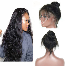 Discount real indian human hair wigs - Peruvian Human Hair Full Lace Wigs with Baby Hair Body Wave Natural Color Real Human Hair Full Lace Wig Weaves Pre-Pluck