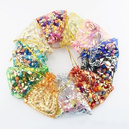 Organza vOile gift packaging bags online shopping - Patterns Luxury Organza Jewelry Bags Christmas Wedding Voile Gift Bag Drawstring Jewelry Packaging Gift Pouch cm Free DHL