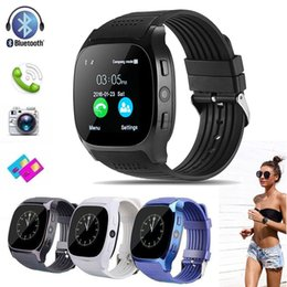 Chinese  New T8 BT3.0 Smart Watch Support SIM and TFcard Camera For Android Smartwatch Sports Wristwatch for Android Phone HOT SALE manufacturers