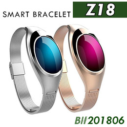 Orologio di lusso Z18 Bluetooth Smart Band Blood Pressure Monitor di frequenza cardiaca Bracciale Selfie remote Wristband per dispositivi Android IOS 20pcs