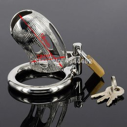 $enCountryForm.capitalKeyWord Australia - Short Male Chastity Devices Belt Penis Ring Stainless Steel Cock Cage Metal Cock Lock Bondage Gear Adult Toys Sex Products Y18110302
