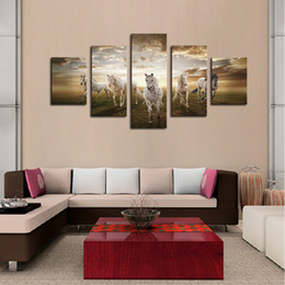 large horse canvas art print NZ - Oil painting wall art prints picture canvas home decoration running horse large HD modern home wall decor