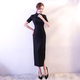 $enCountryForm.capitalKeyWord Canada - Shanghai Story High Split Qipao Dress Lace Chinese Cheongsam Oriental dress Women's Summer Dresses 3 Color