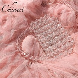 crystal clutch hard bag 2019 - Luxury Transparent Crystal Stone Bag Elegant Handmade Purses Rhinestone Evening Bags Women Party Handbags Ladies Wedding