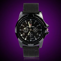 $enCountryForm.capitalKeyWord NZ - 2018 NEW Fashion Gemius Army Racing Force Officer Fabric Band Military Sport Men Watches