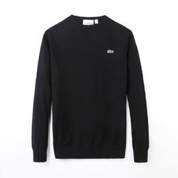 2950a67714479 Lacoste Venta al por mayor y al por menor de alta calidad de punto jersey  de algodón semi-zip suéter con cuello en v suéter de cachemira de los  hombres