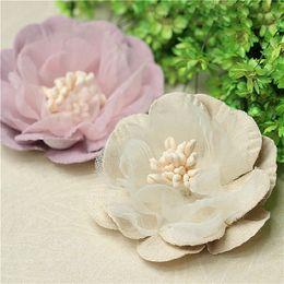 Fake lilies Flowers online shopping - 10Pcs cm Velvet penoy Bud Flowers Head For Wedding Decoration DIY Wreath Gift Box Scrapbooking Craft Fake Flowers