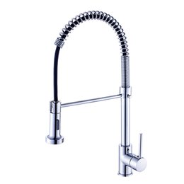 led pull out kitchen taps UK - Kitchen Faucet Pull Out Deck Mounted Single Hole Handle kitchen Sink Mixer Tap Chrome Finish Faucet for Kitchen Torneira