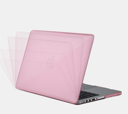 glossy hard case cover UK - New Premium Ultra Thin Crystal Glossy Cover Clear Shield Hard Anti Scratch Case for Macbook 11  12 13 15 inch Protective shell