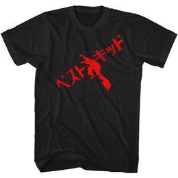 $enCountryForm.capitalKeyWord NZ - The Karate Kid Tall T-Shirt Red Japanese Text Black Tee T Shirt For Men Fabulous Custom Short Sleeve Plus Size Team Tshirt