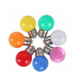 Bubble Ball Bulb Lamp Australia - Festival Decorative Colorful Round LED Lamp 220V Led Bubble Ball Bulb Festival Lantern Lights 10pcs