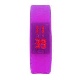 Womens Watches Digital UK - New Arriving Womens Mens Rubber LED Watch Date Sports Bracelet Digital Wrist Watch 80712