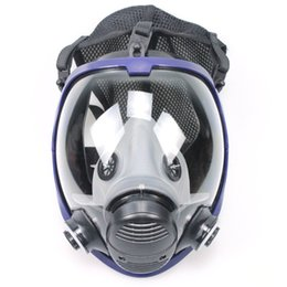 Painting Faces Australia - Full Face Outdoor Cycling Mask Respirator Gas Mask Anti-dust Chemical Safety with Cotton Filter for Industry Painting Hot