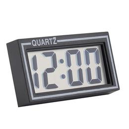 Discount auto clocks car - Wholesale-Digital LCD Screen Table Auto Car Dashboard Desk Date Time Calendar Small Clock