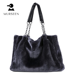 NEW Luxry Winter Women Black Handbags Fur Shoulder Bag Clutch Purses  Handbags Party Envelope Wool Bolsos Mujer Hairy bag  23 be0c6776e2084