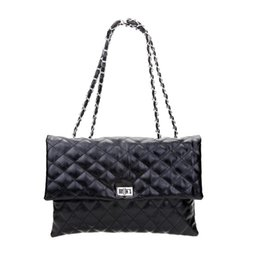 $enCountryForm.capitalKeyWord Canada - Length 30cm Plaid Chain Women Handbags Versatile Fashion Black Envelop Clutch Women Shoulder Messenger Bag Ladies Work Bag