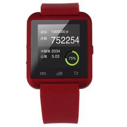 Мода прохладный GSM Спорт наручные часы силиконовый браслет для сотового телефона белый/черный/красный