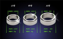 penis sleeves toy 2019 - 3 pcs  Lot 26 28 30mm Glans Penis Rings Smooth Stainless Steel Cock Ring Male Chastity Device Penis Sleeve Adult Sex Toy