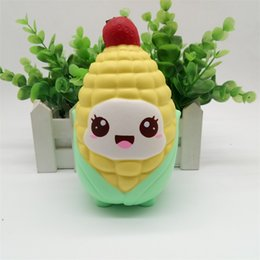 cute chicken toys 2018 - Cartoon Corn Doll Chicken Squishy Kwaii Jumbo Slow Rising Squishies Decompression Toy Cute Funny Squeeze Kids Gift 11 7j