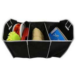 storage car trunk organizers UK - Foldable Fabric Non-woven Car Organizer car trunk Toy Food Container Box Bag Storage Trunk Box Portable Bag Storage Case lin2956