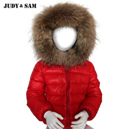 $enCountryForm.capitalKeyWord Canada - Kids Winter Wear Real Removable Raccoon Fur Collar Camouflage Solid Color For Baby White Duck Down Outwear For Child Cotton Hat