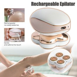 Wholesale New Electric Hair Removal Epilator Razor Trimmer Facial Depilador Device Rechargeable Epilator With retail Package J1753