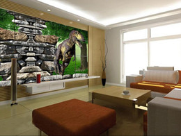 kids dinosaur room decor NZ - Custom 3d wall murals wallpaper 3d photo wallpaper Dinosaur 3d creative space wall sticker living room TV background wall home decor