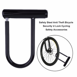 Discount bicycle u locks - Universal Bike Bicycle Cycling Steel Anti Theft Bicycle Perfect Security U Lock Cycling Safety Accessory + Mounting Brac